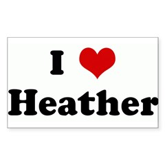 I Love Heather Sticker (Rectangle 50 pk)