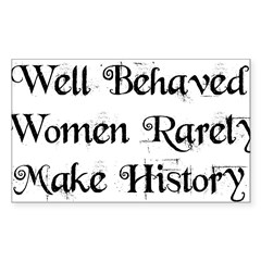 Well Behaved Sticker (Rectangle 50 pk)