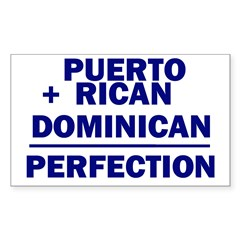 Dominican + Puerto Rican Rectangle Sticker (Rectangle 50 pk)
