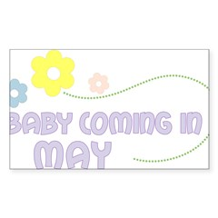 Due in May Rectangle Sticker (Rectangle 50 pk)