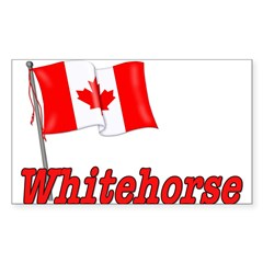 Canada Flag - Whitehorse Rectangle Sticker (Rectangle 50 pk)