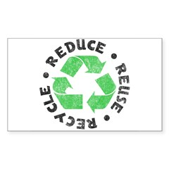 Recycle! Rectangle Sticker (Rectangle 50 pk)