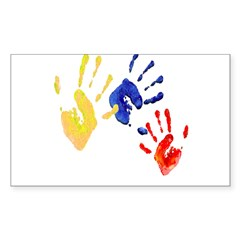 Colombian hands Sticker (Rectangle 50 pk)