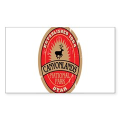 Canyonlands National Park Oval Sticker (Rectangle 50 pk)