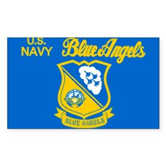 The Navy Blue Angeles Sticker (Rectangle 50 pk)