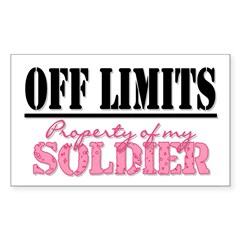 property of my soldier Rectangle Sticker (Rectangle 50 pk)
