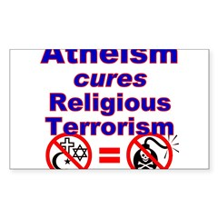 Atheism Cures Terrorism Rectangle Sticker (Rectangle 50 pk)