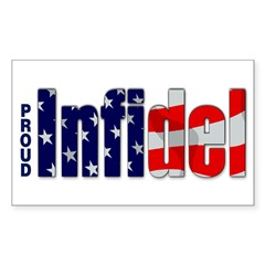 Proud Infidel Rectangle Sticker (Rectangle 50 pk)