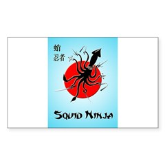 Squid Ninja Sticker (Rectangle 50 pk)