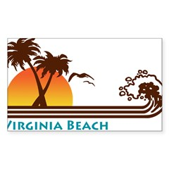 Virginia Beach Rectangle Sticker (Rectangle 50 pk)