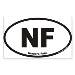 Niagara Falls NF Euro Oval Sticker (Rectangle 50 pk)