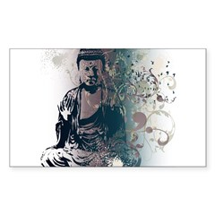 Pretty Buddha Rectangle Sticker (Rectangle 50 pk)