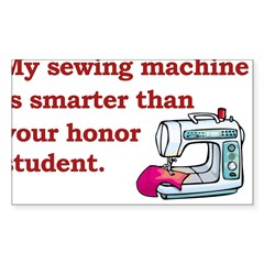 Sewing Machine/Honor Student Rectangle Sticker (Rectangle 50 pk)