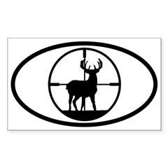 Hunting Stag Oval Sticker (Rectangle 50 pk)