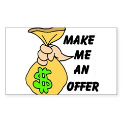 MAKE AN OFFER Rectangle Sticker (Rectangle 50 pk)