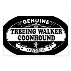 TREEING WALKER COONHOUND Oval Sticker (Rectangle 50 pk)