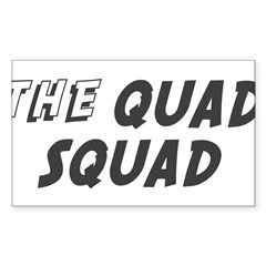 THE QUAD SQUAD Rectangle Sticker (Rectangle 50 pk)