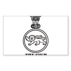 The Sikh Regiment Emblem Rectangle Sticker (Rectangle 50 pk)