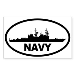 NAVY Destroyer Oval Sticker (Rectangle 50 pk)