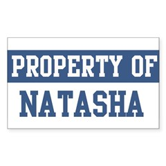 Property of NATASHA Sticker (Rectangle 50 pk)