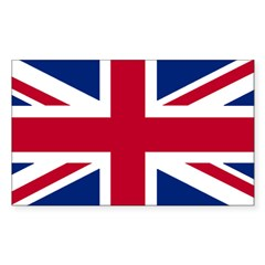 Union Jack Rectangle Sticker (Rectangle 50 pk)