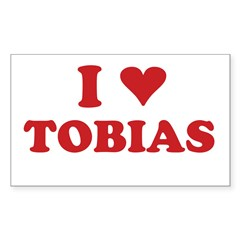 I LOVE TOBIAS Sticker (Rectangle 50 pk)