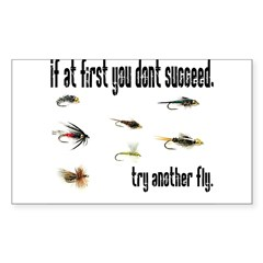 If at first you dont succeed, Sticker (Rectangular Sticker (Rectangle 50 pk)