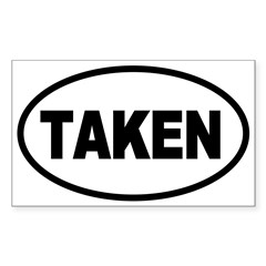 Taken Oval Oval Sticker (Rectangle 50 pk)