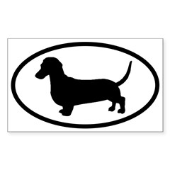 Dachshund Oval Sticker (Rectangle 50 pk)