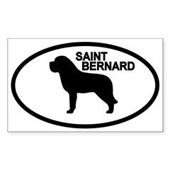 Saint Bernard Oval Sticker (Rectangle 50 pk)