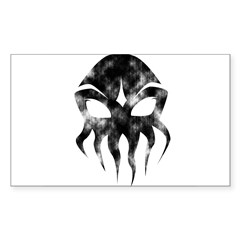 Cthulhu (distressed) Rectangle Sticker (Rectangle 50 pk)