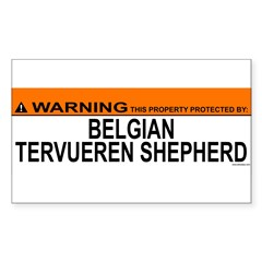 BELGIAN TERVUEREN SHEPHERD Sticker (Rectangle 50 pk)