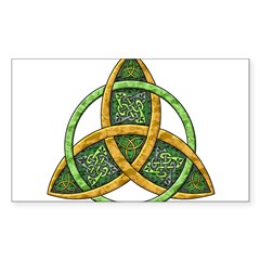 Celtic Trinity Knot Rectangle Sticker (Rectangle 50 pk)