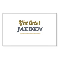 Jaeden Rectangle Sticker (Rectangle 50 pk)