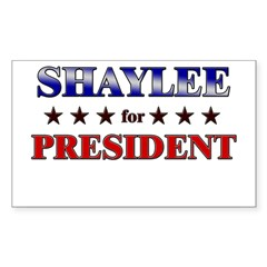 SHAYLEE for president Rectangle Sticker (Rectangle 50 pk)