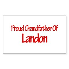Proud Grandfather of Landon Sticker (Rectangle 50 pk)