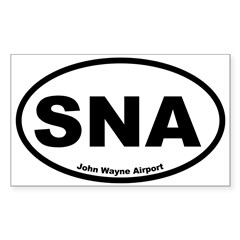John Wayne Airport Oval Sticker (Rectangle 50 pk)