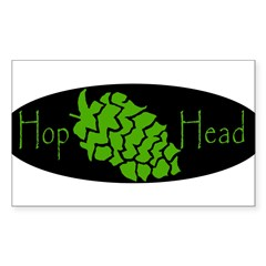 Hop Head Sticker (Rectangle 50 pk)