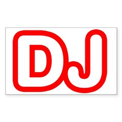 DJ Rectangle Sticker (Rectangle 50 pk)
