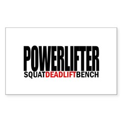 POWERLIFTER Rectangle Sticker (Rectangle 50 pk)