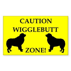 Wigglebutt Zone Sticker (Rectangle 50 pk)