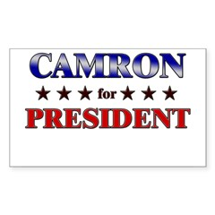 CAMRON for president Rectangle Sticker (Rectangle 50 pk)