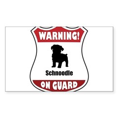 Schnoodle On Guard Rectangle Sticker (Rectangle 50 pk)