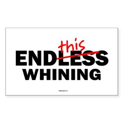 EndThis Whining Oval Sticker (Rectangle 50 pk)