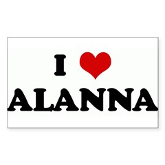I Love ALANNA Rectangle Sticker (Rectangle 50 pk)