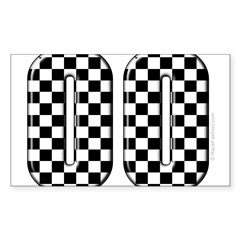 Race Car #00 Rectangle Sticker (Rectangle 50 pk)