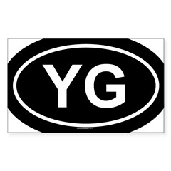 YG Oval Sticker (Rectangle 50 pk)