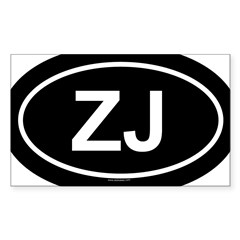 ZJ Oval Sticker (Rectangle 50 pk)
