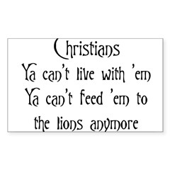 Christians Rectangle Sticker (Rectangle 50 pk)