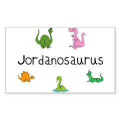 Jordanosaurus Rectangle Sticker (Rectangle 50 pk)